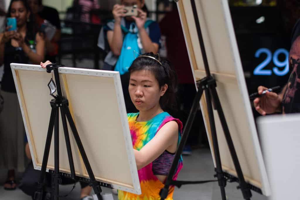 FFF2019 activities also included an Art Battle with nine local artists