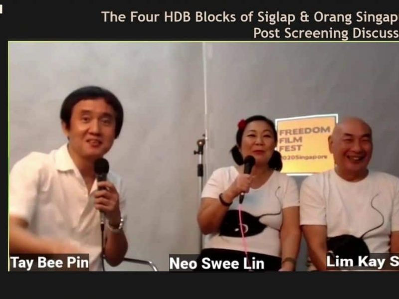 A post-screening discussion with Tay Bee Pin, Neo Swee Lin and Lim Kay Siu for The four HDB Blocks of Siglap and Orang Singapura