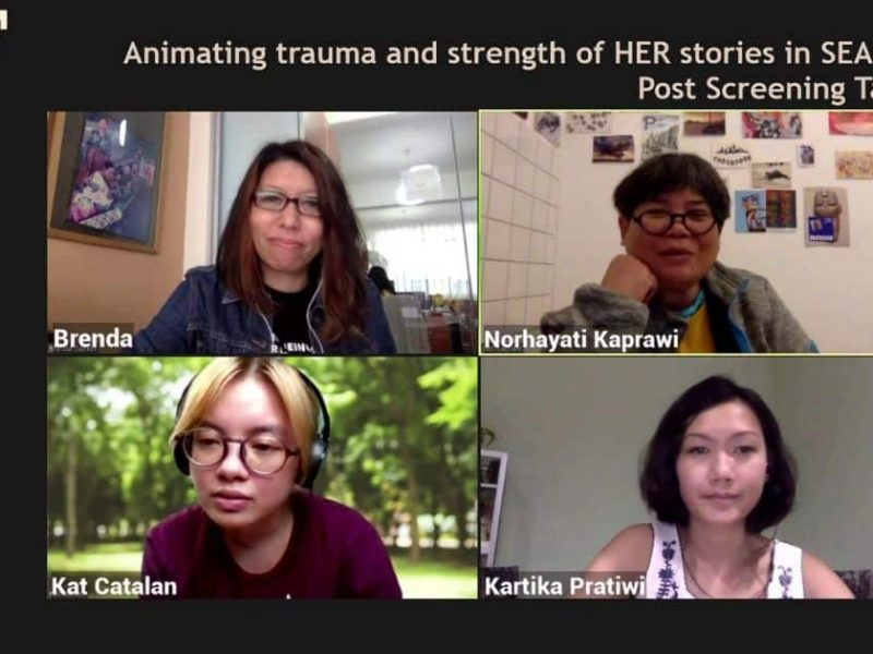 Animating trauma and strength of HER stories in Southeast Asia, post-screening discussion with Kat Catalan, Norhayati Kaprawi and Kartika Pratiwi