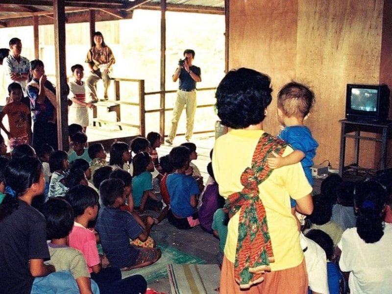 Footages from community screenings in rural Malaysia