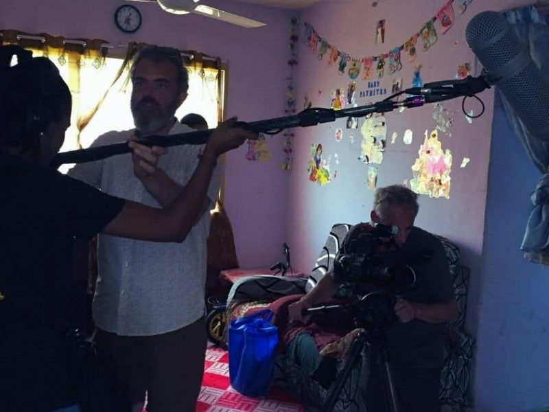 Martin and Sebastian on set of Demi Paymitra, a documentary about the urban poor in Kuala Lumpur