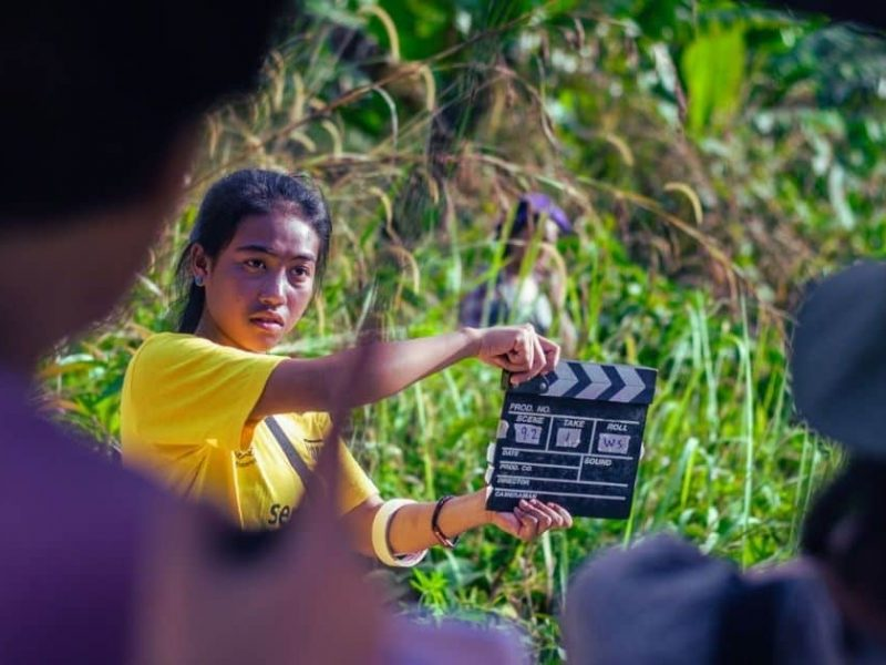 On the set of Roots Of My Land (Selai Kayu Yek), the outcome of a three-year collaboration with FFF encompassing film bootcamps, human right and gender workshops and story labs